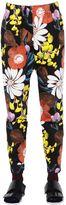 Marni Floral Print Cotton & Linen Drill Pants