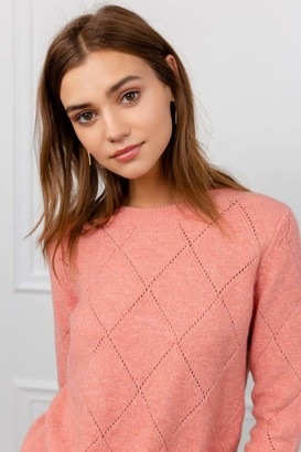 J.ING Corinne Coral Knitted Sweater