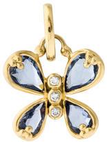 Temple St. Clair 18K Sapphire & Diamond Butterfly Pendant