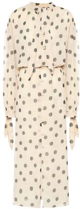 Nanushka Zahara polka-dot chiffon dress