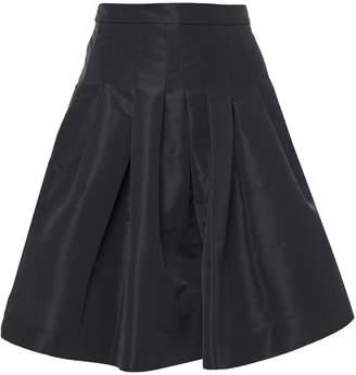 RED Valentino Flared Pleated Taffeta Mini Skirt