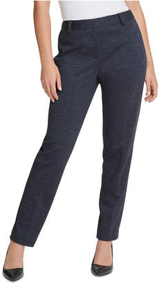 DKNY Knit Straight-Leg Dress Pants