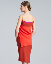 Narciso Rodriguez Double-Face Stretch Spaghetti-Strap Dress