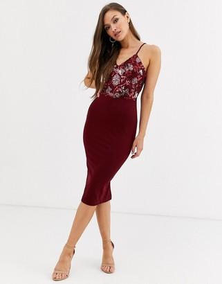 AX Paris cami sequin mini dress in plum