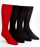Calvin Klein Men's Dress Crew Socks 4-Pack