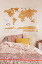 Urban Outfitters XL World Scratch Map