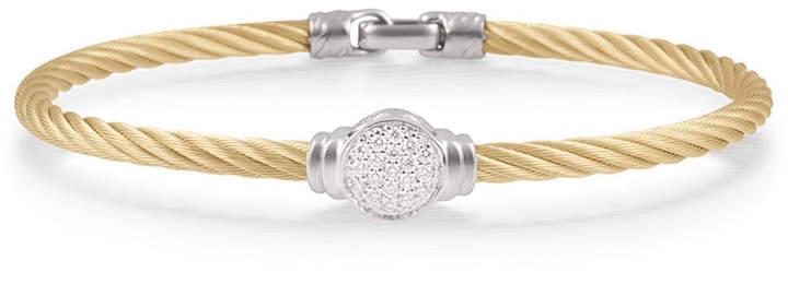 Alor Round Pavé Diamond Cable Bracelet, Yellow