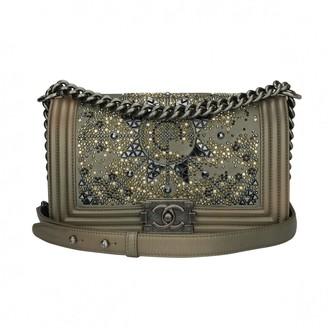 Chanel Boy Metallic Leather Handbags