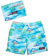 Vineyard Vines Boys' Beach Hut Scenic Bungalow Swim Trunks - Big Kid