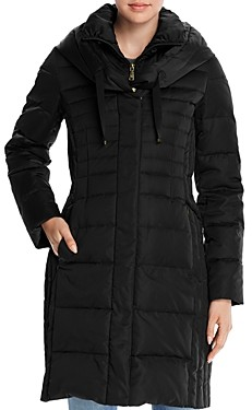 T Tahari Mia Fitted Puffer Coat