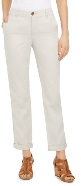 Style&Co. Style & Co Petite Cotton Cuffed Straight-Leg Pants, Created for Macy's
