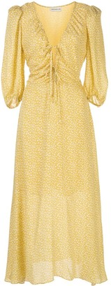Nicholas Vine Print A-Line Dress