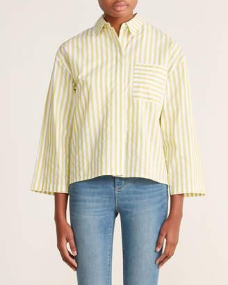 Roberto Collina Striped Boxy Shirt