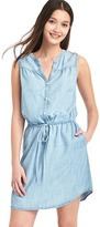 Gap Tencel® sleeveless shirtdress