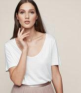Reiss Ivy Scoop-Neck T-Shirt
