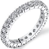 Ice 1 1/4 CT TW Genuine Diamond 14K White Gold Eternity Wedding Band