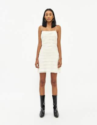 Stelen Women's Britta A-Line Dress in Ivory, Size Small | Spandex