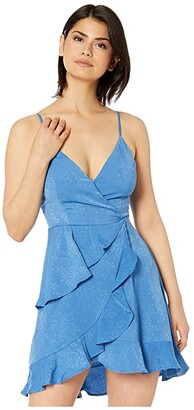 BCBGeneration Cami Ruffle Dress TRP6268174 (Bright Cobalt) Women's Dress