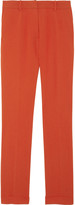 Iris & Ink High-rise crepe straight-leg pants