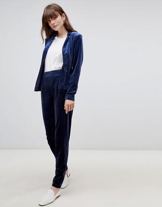 B.young velvet suit pants-Navy