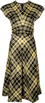Thumbnail for your product : Proenza Schouler Gathered Plaid Dress