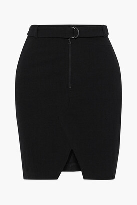 BA&SH Balsam Belted Stretch-twill Mini Skirt