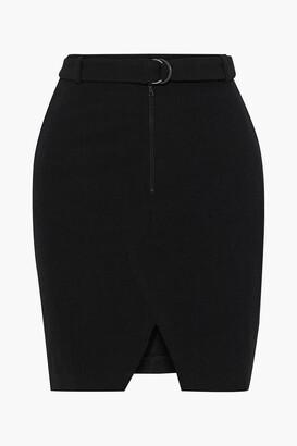 BA&SH Belted Stretch-twill Skirt