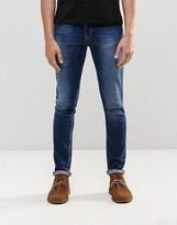 Nudie Jeans Skinny Lin Super Skinny Jeans Navy Shade Dark Blue