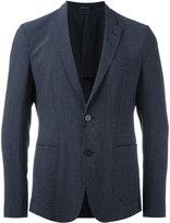 Emporio Armani checked blazer - men - Silk/Cotton/Spandex/Elastane/Virgin Wool - 48