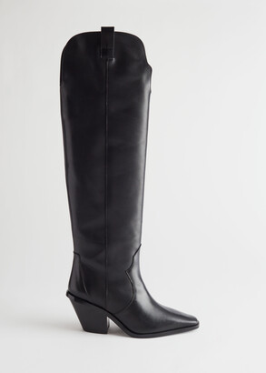 And other stories Knee High Leather Cowboy Boots