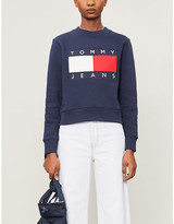 Tommy Jeans Logo-embroidered cotton-jersey jumper