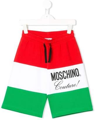 Moschino Kids drawstring colour-block shorts