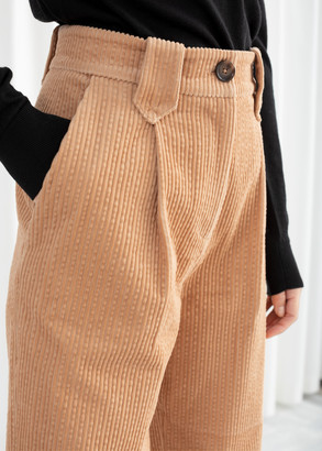 And other stories High Waisted Corduroy Pants