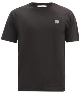 Stone Island Logo-patch Cotton-jersey T-shirt - Black