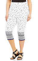 Westbound Plus the PARK AVE fit Tribal Border-Print Skimmer Leggings