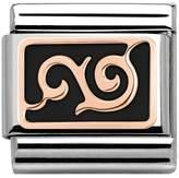 Nomination Couture Rose Gold Black Enamel Curl Classic Charm 430201/16