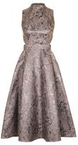 Topshop Metallic jacquard prom midi dress