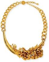 Jose & Maria Barrera 3D Floral Collar Necklace