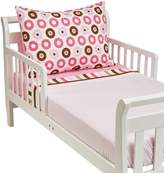 Bacati Modern Dots/Stripes Quilted Top Crib Fitted Sheet