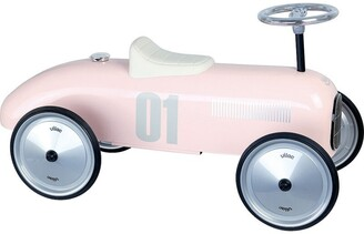 Vilac Vintage Ride-On Metal Car - Light Pink