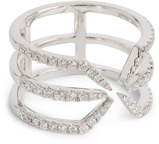 Djula White Gold And Diamond Corset Ring