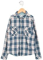 Zadig & Voltaire Girls' Plaid Patterned Flannel Shirt