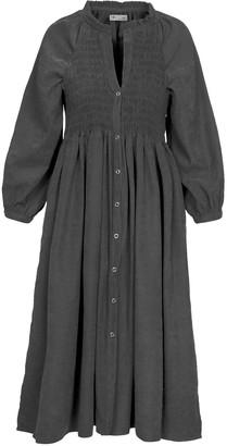 Naftul Black Puff Sleeves Bohemian Party Dress