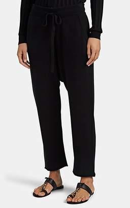 Nili Lotan Women's Luna Cashmere Crop Sweatpants - Black