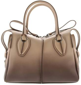 Tod's Small D Bag In Shaded Leather With Shoulder Strap