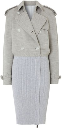 Burberry Technical Wool Reconstructed Trench Coat