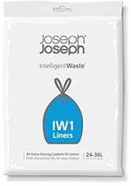 Joseph Joseph Intelligent Waste Garbage Can Liners (20 Pack), 6 to 9 gallon, Black by