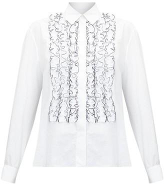 Alexandre Vauthier Ruffled Cotton-poplin Shirt - White