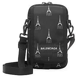 Balenciaga Men's Paris Eiffel Crossbody Bag