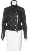 Burberry Leather Structured Jacket